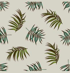 seamless pattern with hand drawn colored tropical vector image