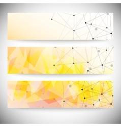 Set of horizontal banners Orange triangle design vector