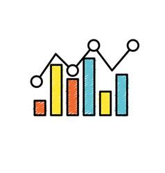 statistics bar diagram data graph data vector image