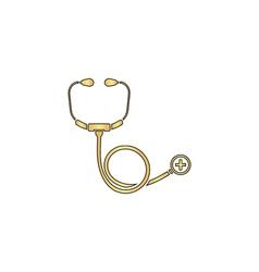 Stethoscope computer symbol vector