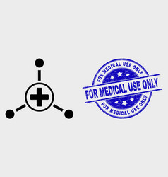stroke medical center links icon and vector image