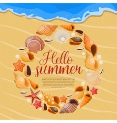 Summer Sea Shells Poster vector image