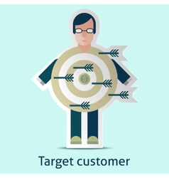 Target customer concept vector image