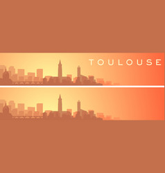 Toulouse beautiful skyline scenery banner vector