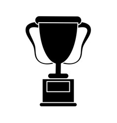trophy award sport pictogram vector image