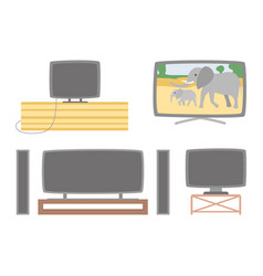 tv screens set television monitors with audio vector image