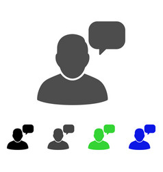 User message cloud flat icon vector