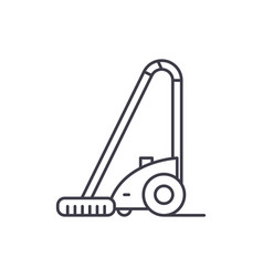 vacuum cleaner line icon concept vacuum cleaner vector image
