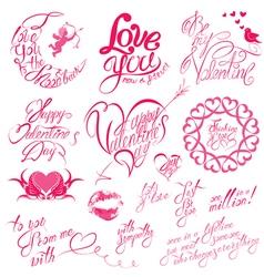 Valentine day calligr 6 380 vector