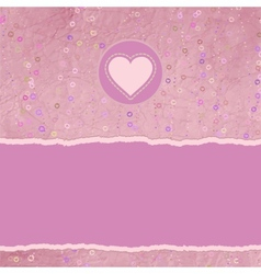 Valentine heart card vector