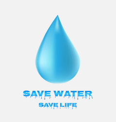Water drop icon save water save life vector