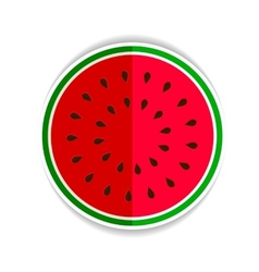 Watermelon red green icon fla vector