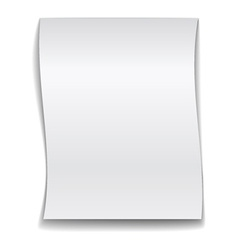 White wavy paper vector