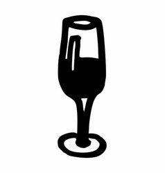 wine cup freehand vector image