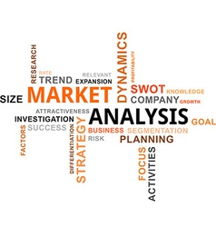 Word cloud market analysis vector