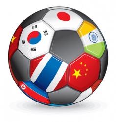world soccer ball vector image