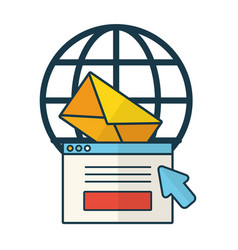 world website email message click vector image