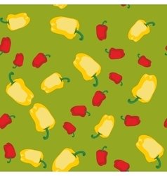 Yellow and red pepper seamless texture 609 vector image