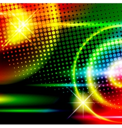 abstract disco background vector image vector image