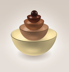 Chocolate cups vector image vector image