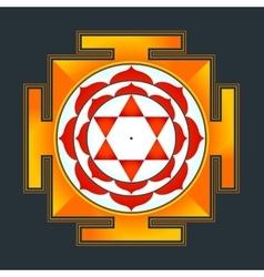 colored Bhuvaneshwari yantra vector image