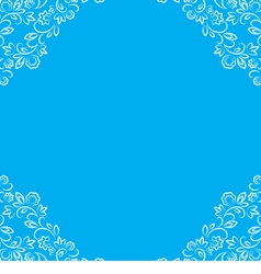 frame with white floral lace border vector image vector image
