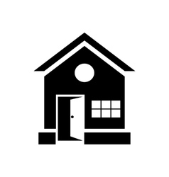 House with open door icon simple style vector image