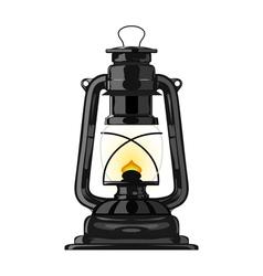 Old kerosene lamp eps10 vector image