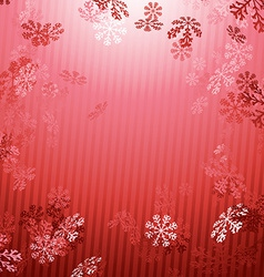 Red Christmas New year snow fall background vector image vector image
