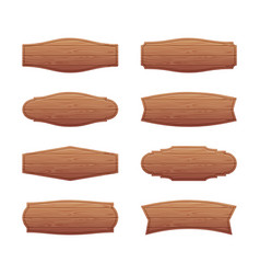 set of wooden signboards vector image vector image