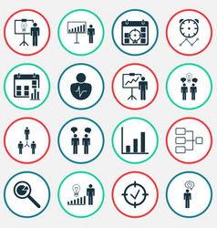 authority icons set with special demonstration vector image