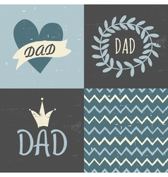 fathers day greting cards seamless pattern set vector image vector image