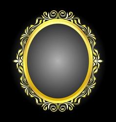 gold frame oval vector image