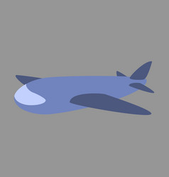 icon in flat design toy airplane vector image