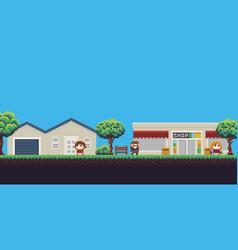 pixel shop vector image vector image