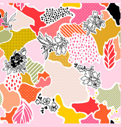 abstract seamless pattern with floral vector image