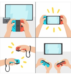 New switching gaming system Portable console vector image vector image
