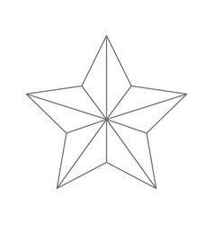 star award flat icon monochrome silhouette vector image vector image