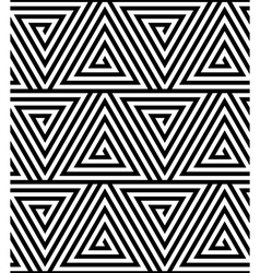 Triangles black and white abstract seamless vector