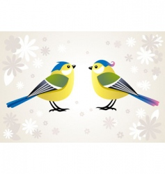 cute stylized birds vector image vector image