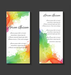 leaflets flyers brochure blank template vector image