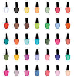 nail polish on a white background isolated vector image vector image