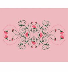 roses ornament vector image