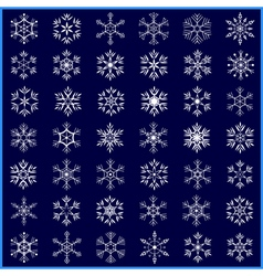 Set of decorative winter snowflakes vector image vector image