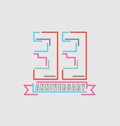 33th years anniversary logo birthday celebration vector