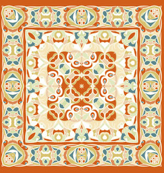 A bright orange handkerchief in oriental style vector