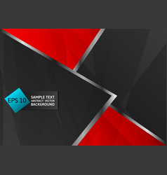 Abstract geometric black and red color modern vector