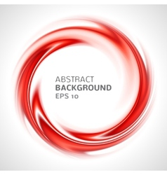 Abstract red swirl circle bright background vector