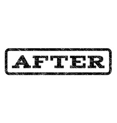 after watermark stamp vector image