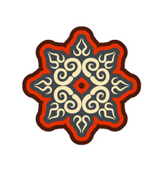 Arabic ornament isolated oriental decorative vector